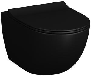 DIANA L300-Black Wand-Tiefspül-WC