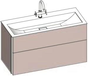 DIANA S200 (Fun2 Kompakt) Unterschrank Mineralgusswaschtisch