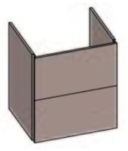 DIANA S200 Waschtischunterschrank zu Möbelwaschtisch S100