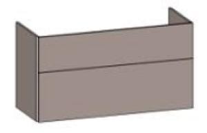 DIANA S200 Waschtischunterschrank zu E-Doppelwaschtisch M100