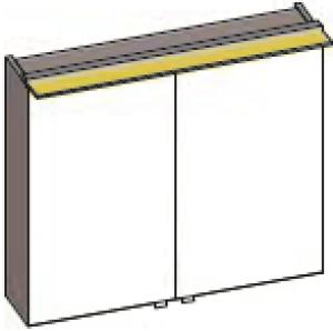 DIANA S200 Badmöbel-Spiegelschrank 2-türig