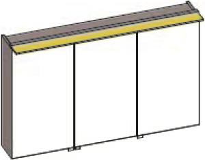 DIANA S200 Spiegelschrank 3-türig