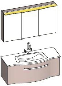 DIANA S300 Set Unterschrank mit Waschtisch