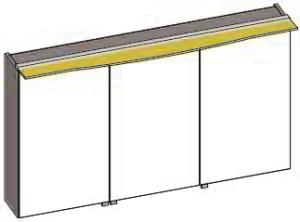 DIANA S300 Badmöbel-Spiegelschrank 3-türig
