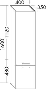 DIANA M400 Hochschrank HSHI links