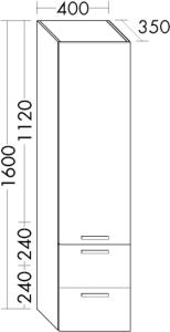 DIANA M400 Hochschrank HSHJ links