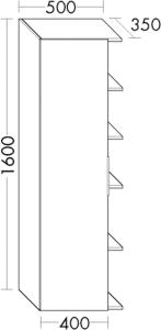 DIANA M400 Hochschrank HSFZ links