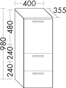 DIANA M400 Halbhochschrank UHHJ rechts