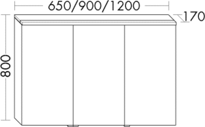 DIANA M300 (Vario) Badmöbel-Spiegelschrank SPGS