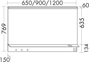 DIANA M300 (Vario) Badmöbel-Leuchtspiegel SEZQ