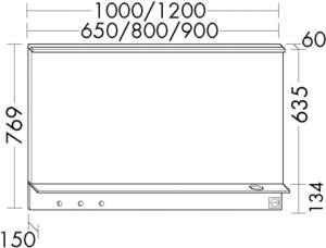 DIANA M300 Badmöbel-Leuchtspiegel SEZQ