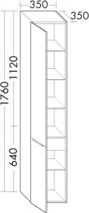 DIANA M500 Hochschrank HSLE