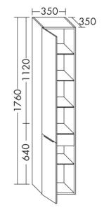 DIANA M500 Hochschrank HSLF