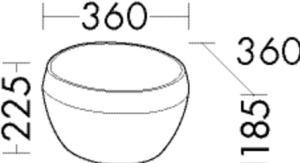 DIANA M500 (Neu) Mineralguss-Aufsatzwaschtisch MWFL