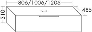 DIANA M500 (Neu) Waschtischunterschrank SFNT