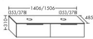 DIANA M500 (Neu) Waschtischunterschrank SFOC