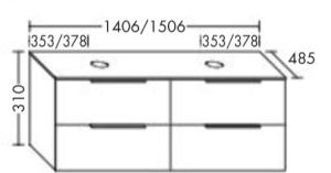 DIANA M500 (Neu) Waschtischunterschrank SFOB