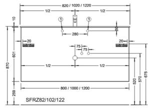 DIANA M500 Mineralguss-Waschtisch mit Unterschrank SFRZ