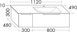 DIANA M500 (Neu) Mineralguss-Waschtisch mit Unterschrank SFSC