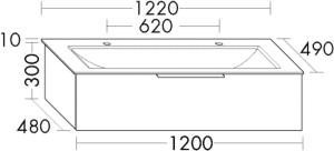 DIANA M500 (Neu) Mineralguss-Waschtisch mit Unterschrank SFSG