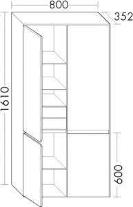 DIANA L400 (Neu) Hochschrank SFWF