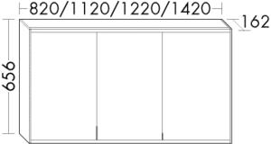 DIANA L400 (Neu) Spiegelschrank SPMI