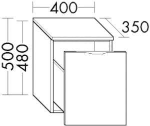 DIANA L200 (Style2) Sideboard, 1 Auszug