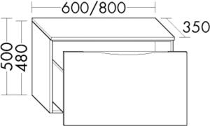 DIANA L200 (Style2) Sideboard, 2 Auszüge
