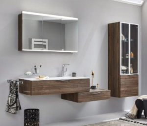 DIANA L200 (Style2) Spiegelschrank mit horizontaler LED-Aufsatzleuchte