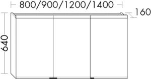 DIANA L200 (Style2) Spiegelschrank