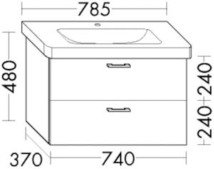 DIANA L200 (Style2) Waschtischunterschrank zu Durastyle
