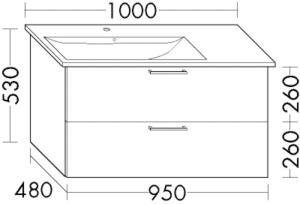 DIANA L200 Waschtischunterschrank zu Venticello