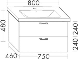DIANA L200 Waschtischunterschrank zu DIANA S100
