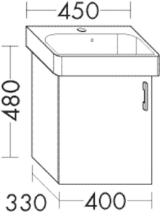DIANA L200 (Style2) Waschtischunterschrank zu DIANA M100