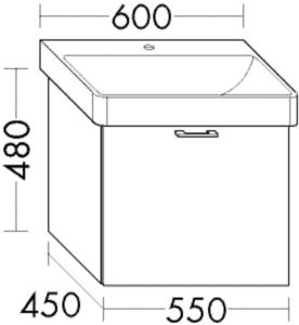 DIANA M100 WT-Unterschrank