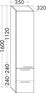 DIANA O100 (Smart2) Hochschrank mit 1 Tür
