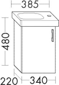 DIANA O100 (Smart2) Waschtischunterschrank zu DIANA S100 Badmöbel-Waschtisch