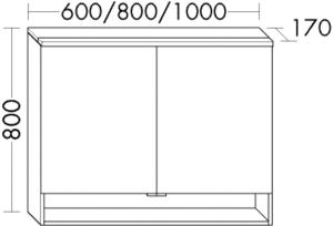 DIANA O100 (Smart2) Badmöbel-Spiegelschrank SPIF