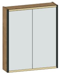 DIANA L300 Spiegelschrank 2-türig ohne Ablage