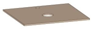 DIANA L300 Waschtischplatte, Ausschnitt mittig