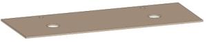 DIANA L300 Waschtischplatte, 2 Ausschnitte