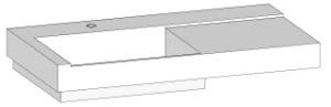 DIANA L300 Mineralgusswaschtisch