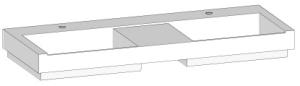 DIANA L300 Mineralgussdoppelwaschtisch