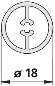DIANA O100 (Aktiv) Vorhangschiene