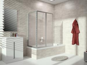 DIANA O100 (Flex) Badewannenabtrennung mit breitem Segment