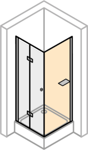 DIANA L700 Seitenwand für Pendeltür und Pendel-Falttür mit Tablet