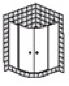 DIANA M400 (Trend Plus) Viertelkreis Pendeltüren
