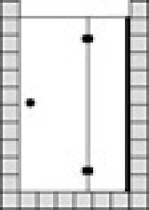 DIANA L500 (Trend) Pendeltür Nische mit Festfeld teilgerahmt