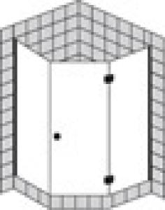 DIANA L500 Fünfeck 1 Tür teilgerahmt