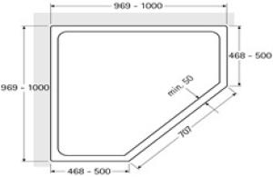 DIANA L500 Fünfeck 2 Türen teilgerahmt